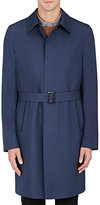 Brioni Men's Wool-Silk Belted Overcoat