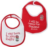 England R.U. England R.F.U. Official Rugby Crest Baby Bibs (Pack Of 2)