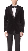 Theory One Button Peak Lapel Tuxedo Jacket