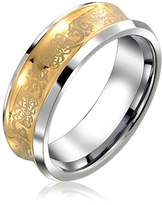 Bling Jewelry Celtic Dragon Tungsten Concave Wedding Ring 9mm