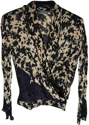 Genny Beige Silk Skirt for Women Vintage