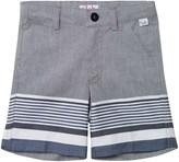 Il Gufo Navy and Grey Stripe Shorts