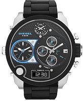 Diesel Men ́s Oversized Black & Silver Multifunction Watch