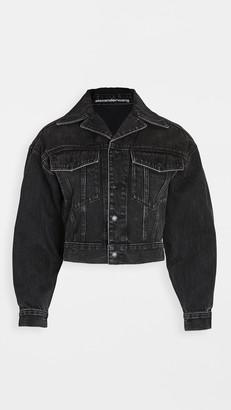 Denim X Alexander Wang Lapel Collared Jacket