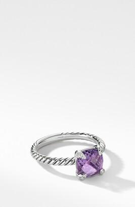 David Yurman Chatelaine Ring with Semiprecious Stone and Diamonds