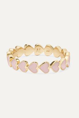 Alison Lou Heart Stack 14-karat Gold And Enamel Ring - 7