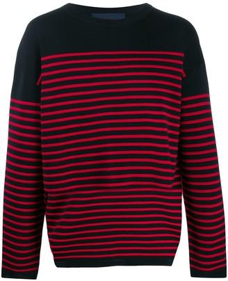 Juun.J Striped Long-Sleeve Sweater