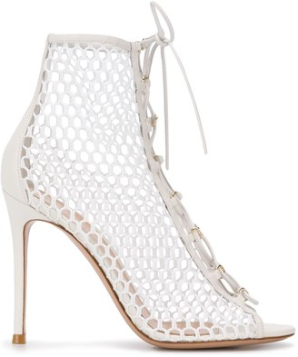 Gianvito Rossi Mesh Lace-Up Sandal