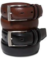 Perry Ellis Portfolio Men's Big and Tall Leather Belt
