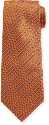 Canali Dashed Diamonds Silk Tie