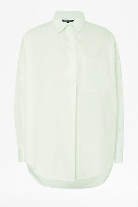 French Connection Laselle Button Through Pop Over Shirt