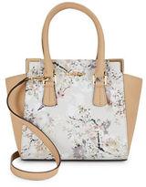 Calvin Klein Floral Faux Leather Satchel