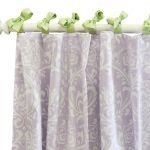 New Arrivals Sweet Violet Set Of 2 Curtain Panels, Lavender/green