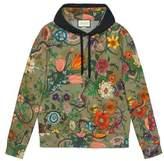 Gucci Flora Snake print cotton sweatshirt