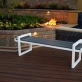 Century Plastic Garden Bench Trex Outdoor Color: Satin White / Island Mist