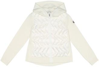 Moncler Enfant Down and wool jacket