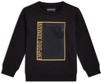 Emporio Armani Kids Gold Logo Graphic Sweater