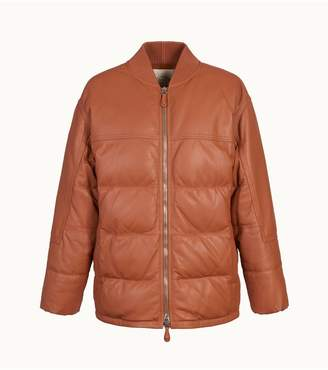 Tod's Tods Down Bomber Jacket In Leather