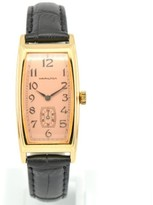 Hamilton 6254 Gold Plated Metal & Faux Leather 19mm Watch