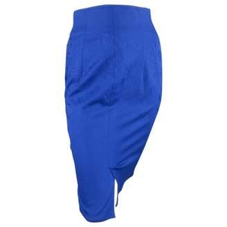 Gianni Versace Blue Wool Dress for Women Vintage
