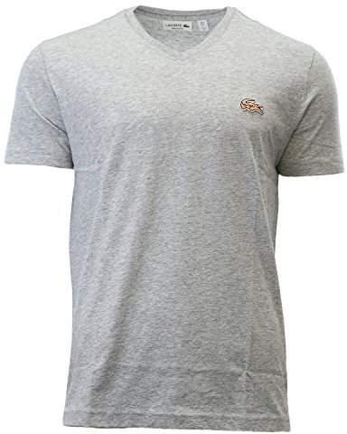 Lacoste Men's V-Neck Shirt & Turtle Silver Chine CCA
