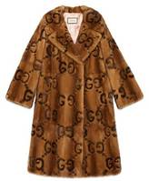 Gucci Mink GG intarsia coat