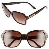 Tory Burch Women's 55Mm Retro Sunglasses - Dark Tortoise