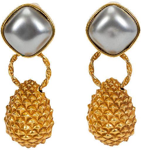 One Kings Lane Vintage Dominique Aurientis Pearl Earrings