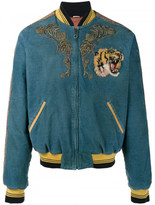 Gucci Embroidered corduroy bomber jacket