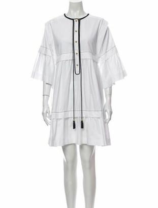 Philosophy di Lorenzo Serafini Crew Neck Mini Dress White