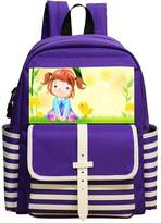 Lovely-Kids-backpacks Lovely Girl With Chick Kids Book Backpack for School 5-9Years Old