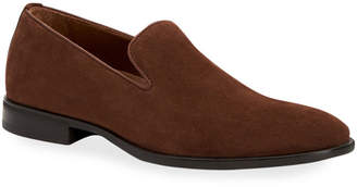 Aquatalia Men's Aiden Suede Slip-On Loafers