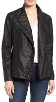 Tahari Women's Kelly Leather Peplum Jacket