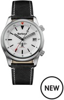 Barbour BB059WHBK Seaburn Black Leather Strap Mens Watch