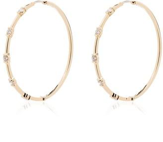 Melissa Kaye Zea 18kt yellow gold hoop earrings