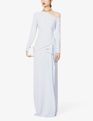 Roland Mouret Salona draped crepe gown