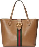 Thumbnail for your product : Gucci Medium tote bag with Double G and Web
