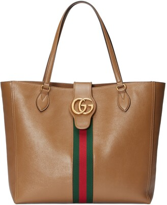 Gucci Medium tote bag with Double G and Web