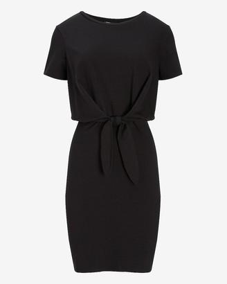 Express Tie Front T-Shirt Dress