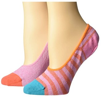 Happy Socks Hysteria By 2-Pack Claudia Invisible Socks (Light/Pastel Yellow) Women's Crew Cut Socks Shoes