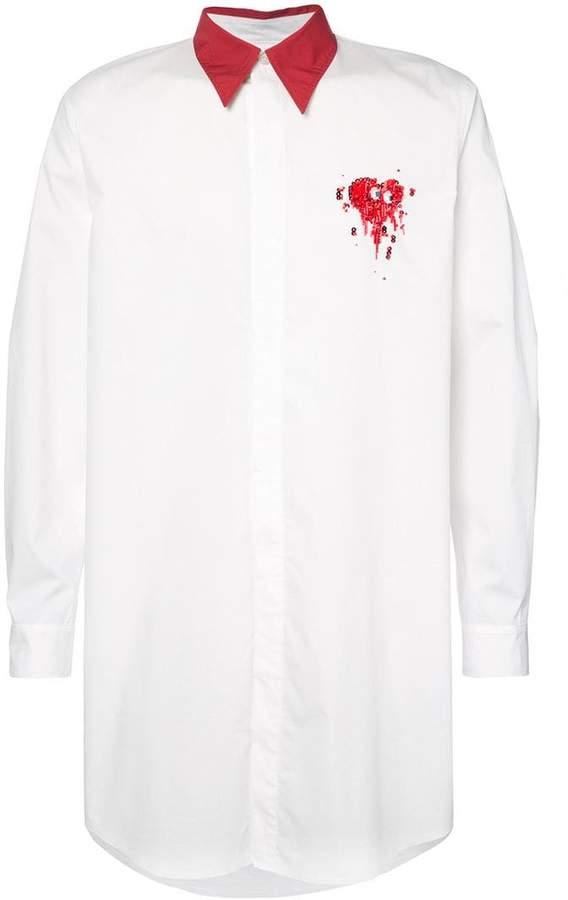 Christian Dada contrast-collar shirt