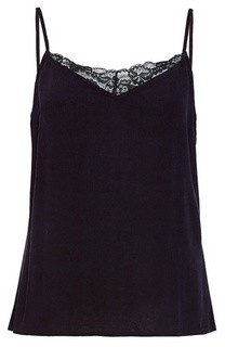 Dorothy Perkins Womens Villa Black Lace Singlet, Black