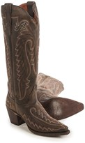 "Dan Post Heather Embroidered Cowboy Boots - 15"", Snip Toe (For Women)"