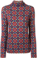 Etro print turtleneck jumper