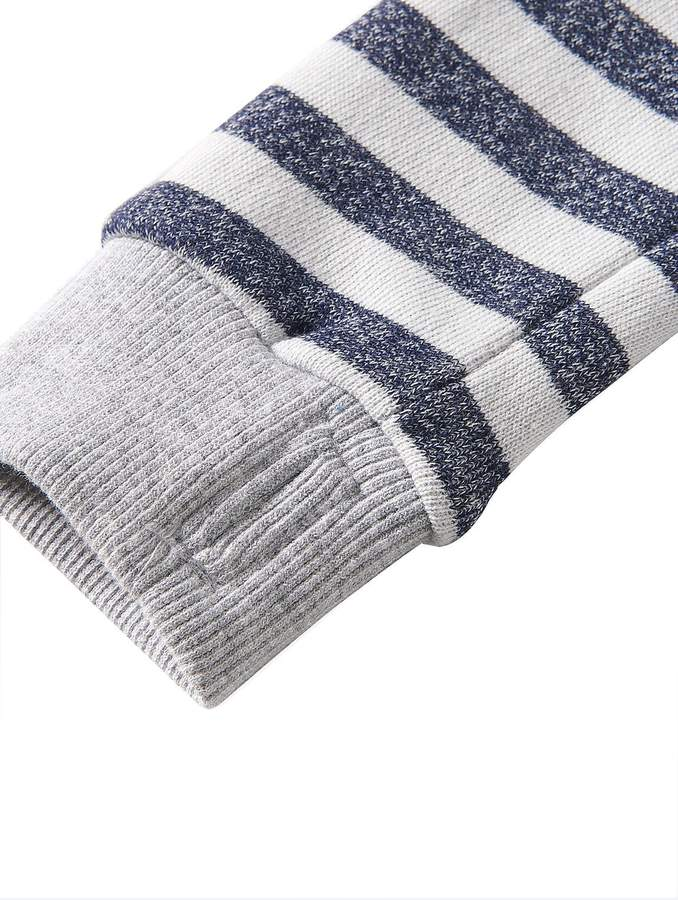 Bench Girls Stripey Logo Sweatshirt