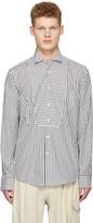 Loewe Black & White Striped Bib Shirt