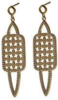 Babette Wasserman Women's Sterling Silver Round Clear Cubic Zirconia Istanbul Earrings