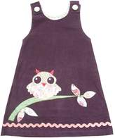 Powell-Craft Powell Craft Big Girls Owl Applique Dress.100% Cotton.