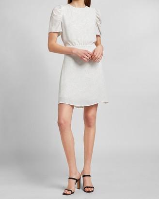 Express Polka Dot Puff Sleeve Dress