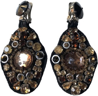 Prada Beige Metal Earrings